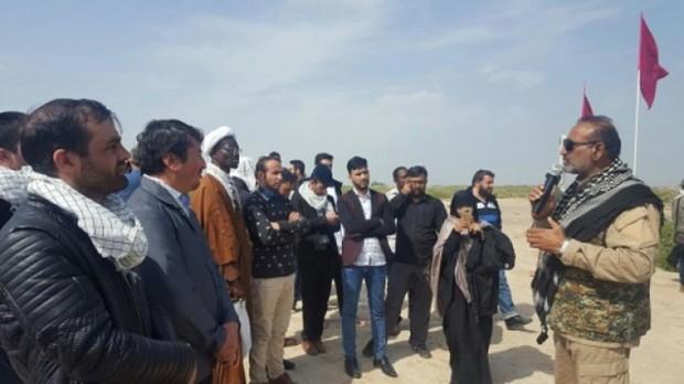 دانشجویان خارجی از مناطق عملیاتی خرمشهر دیدن کردند