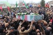 مردم آزادشهر پیکرهای مطهر دو شهید گمنام را تشییع کردند