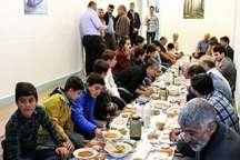 ضیافت افطار خیر تهرانی برای ایتام و نیازمندان