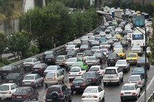 ترافیک شدید در جاده چالوس