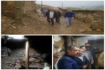 تخلیه چند خانه  در روستای میزوج قزوین
