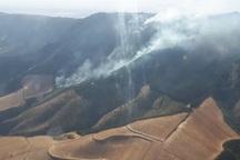خاموش کردن آتش جنگل های کلاله با استفاده از بالگرد سرعت گرفت
