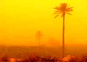 ریزگردها در خرمشهر به 33 برابر حد مجاز رسید