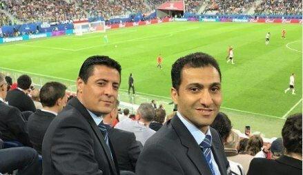 داوران ایرانی فینال جام کنفدراسیون ها  را از نزدیک تماشا کردند+ عکس