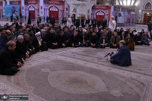 تجدید میثاق رییس و جمعی از مدیران ارشد صدا و سیما با آرمان های امام خمینی(س)