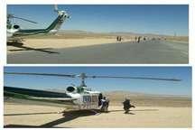 نجات جان سه مصدوم و بیمار توسط اورژانس هوایی شاهرود