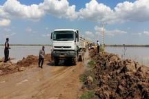 سیل بند روستای «سادات جعاوله» در اهواز ترمیم شد