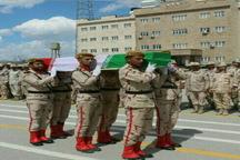 پیکر شهید «شهسواری» توسط همرزمانش در آذربایجان غربی بدرقه شد