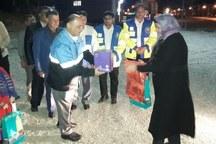 مسئولان گلستان از اولین مسافرین نوروزی استقبال کردند