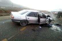 مرگ 2 نفر در تصادف محور یاسوج - اصفهان