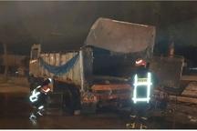 آتش سوزی کامیون در بجنورد عامل انسانی داشت