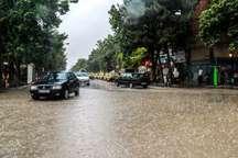 بارش شدیدباران درالبرز آبگرفتگی معابردر کرج آسیب جزئی به چندروستای طالقان