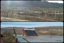نصب ۸ دستگاه آبگرمکن خورشیدی در روستای ورنشاخ دلفان