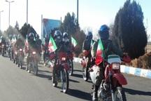 رژه موتوری به مناسبت آغاز دهه فجر در قزوین برگزار شد