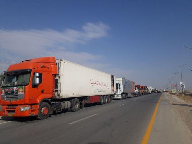 تردد کامیون در مسیرهای منتهی به مهران ممنوع شد