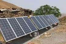 برخورداری چهار روستای مرزی شهرستان درمیان خراسان از انرژی خورشیدی