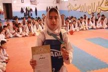 تکواندو کار خردسال ملکانی مدال طلای قهرمانی کشور را کسب کرد