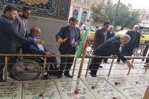 مزار شهیدان سوم خرداد در قم عطرافشانی شد