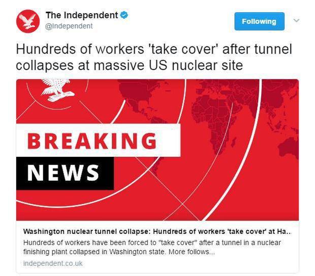 حادثه جدی در یک مرکز هستهای در آمریکا