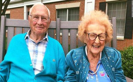 ازدواج مرد 100 ساله با زن 103 ساله در اوهایو