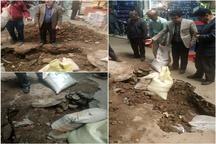 فرونشست زمین در راسته حلبیسازان بازار قزوین