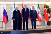 آغاز اجلاس سه جانبه سران کشورهای ایران، روسیه و ترکیه در آنکارا