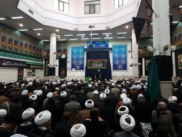 آیین عزاداری سالروز شهادت امام حسن عسکری در دفتر رهبر انقلاب درقم برگزار شد