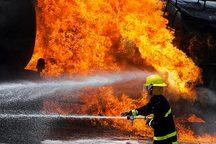 مهار آتش در پاساژ رضوان اهواز