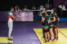 پیروزی کبدی بازان مرد ایران مقابل میزبان