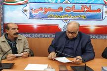 استاندار کرمانشاه با جمعی از زلزله زدگان سرپل ذهاب دیدار کرد