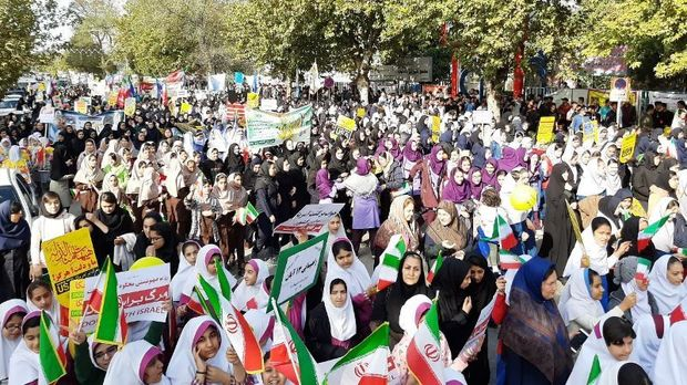 فریاد ظلمستیزی مردم شرق گلستان در روز ملی مبارزه با استکبار جهانی