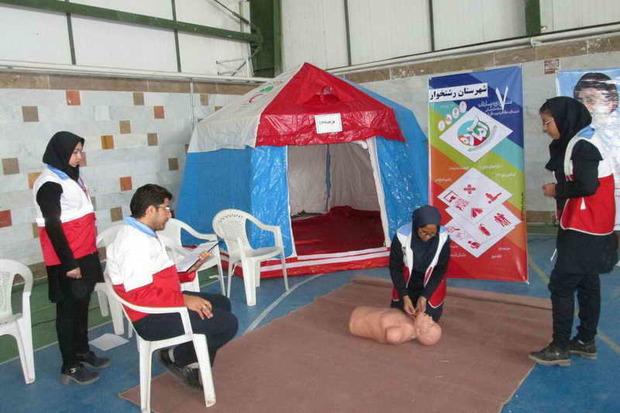 200 دانش آموز رشتخوار در المپیاد امداد و نجات شرکت کردند