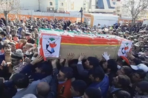 تشییع شهید حادثه تروریستی چابهار در یاسوج