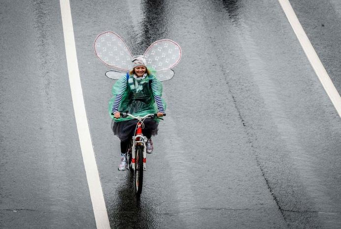 رژه زیبای دوچرخه ها در مسکو+ تصاویر
