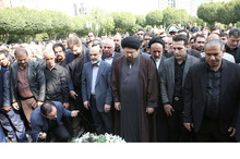 مراسم تشییع پیکر بهرام شفیع با نماز یادگار حضرت امام (س)  + تصاویر و حواشی