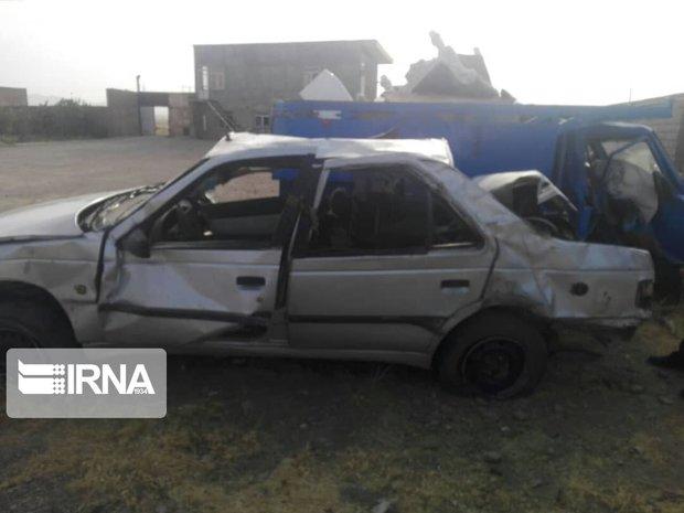 تصادف در جاده رحیم آباد-دانسفهان با هفت مصدوم