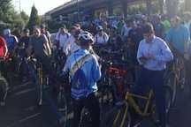 خبرنگاران مشهد دوچرخه سواری کردند