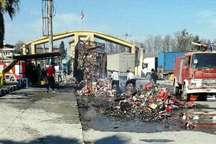 آتش سوزی تریلی جمهوری آذربایجان در گمرک آستارا مهار شد