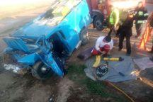 واژگونی خودرو جان سرنشین را گرفت