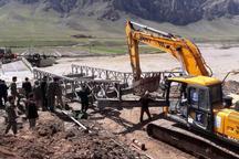 سپاه برای سیلزدگان گروس پل ساخت