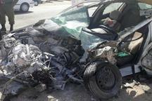 راننده سواری درتصادف با کامیون درشهرستان کازرون  جان باخت
