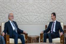 دیدار وزیر خارجه عراق با بشار اسد+عکس
