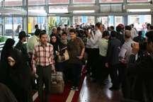 نخستین قطار مسافربری همدان وارد مشهد شد