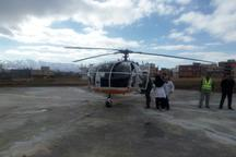 بیمارستان بوعلی مریوان به پد فرود بالگرد مجهز شد