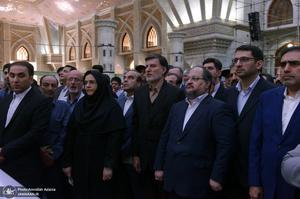 تجدید میثاق وزیر و کارکنان وزارت تعاون، کار و رفاه اجتماعی با آرمان حضرت امام(س)