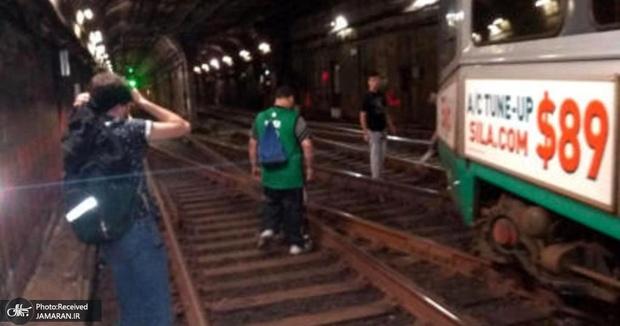خارج شدن قطار بوستون از ریل+ تصاویر