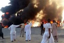 مرگ 2 نفر در حادثه آتش گرفتن خودرو در محور سرباز-ایرانشهر