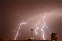 هواشناسی وزش باد، رگبار و رعد و برق را برای استان تهران پیش بینی کرد