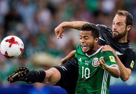 صدرنشینی مکزیک با پیروزی مقابل نیوزلند