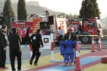 المپیاد ورزشی آتش نشانان کشور در یزد آغاز شد